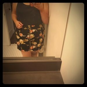 INC Zip Up Miniskirt